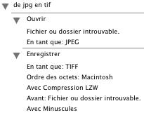 Ensembles de scripts JPGTIF.atn.zip et ALLTGA.atn.zip