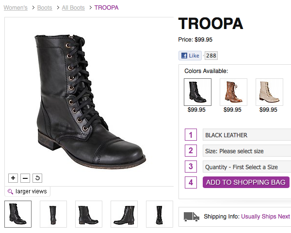 848019d6aae WANT  Steve Madden Troopa Boots