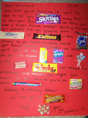 Happy Birthday Cards Made With Candy Bars Plancha