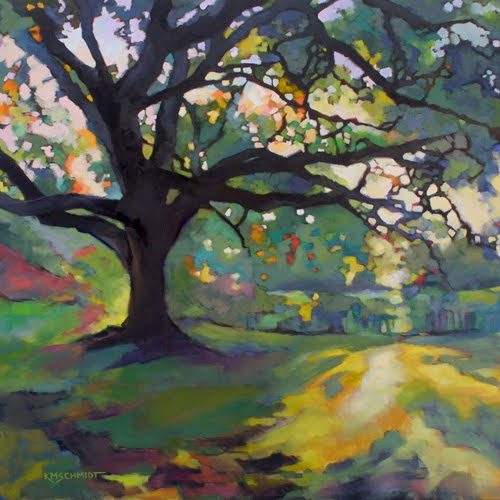 Oil Painting Oak Tree