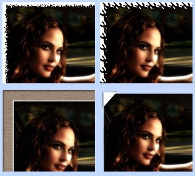 gambar contoh frame dengan action photoshop