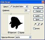 Gambar tutorial menyeleksi dengan Color Range 1