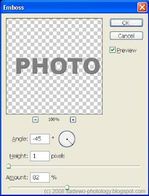gambar emboss pada tutorial efek tulisan