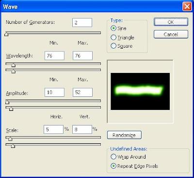 gambar tutorial efek distorsi