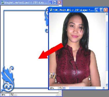 gambar tutorial bingkai foto 17