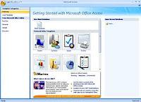Gambar tampilan Microsoft Acces 2007