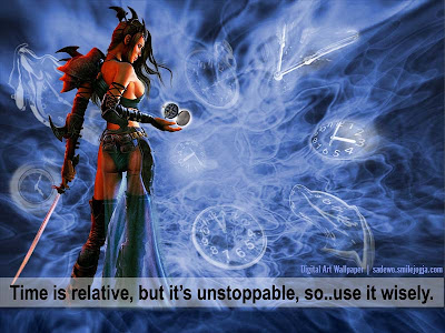 Unstoppable Time, contoh desain image