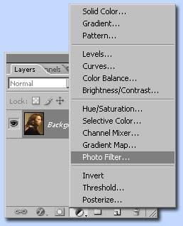 photoshop mengoreksi warna dengan Photo Filter