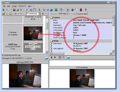 Memanipulasi data exif kamera