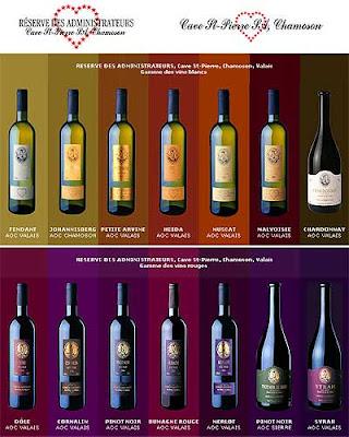 La farandole des vins du Valais