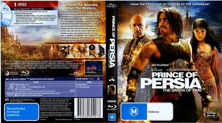 Dvd Covers Prince Of Persia The Sands Of Time 2010 Blu Ray Covers