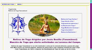 Retiros y vacaciones yoga en Loranca del Campo.