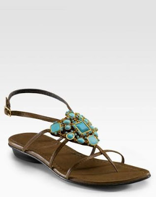 Turquoise Flat Shoes For Sale