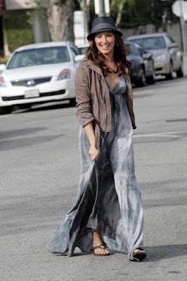 Ashley Tisdale Maxi tie dye dress Gypsy 05 ...