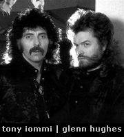 Tony Iommi and Glenn Hughes