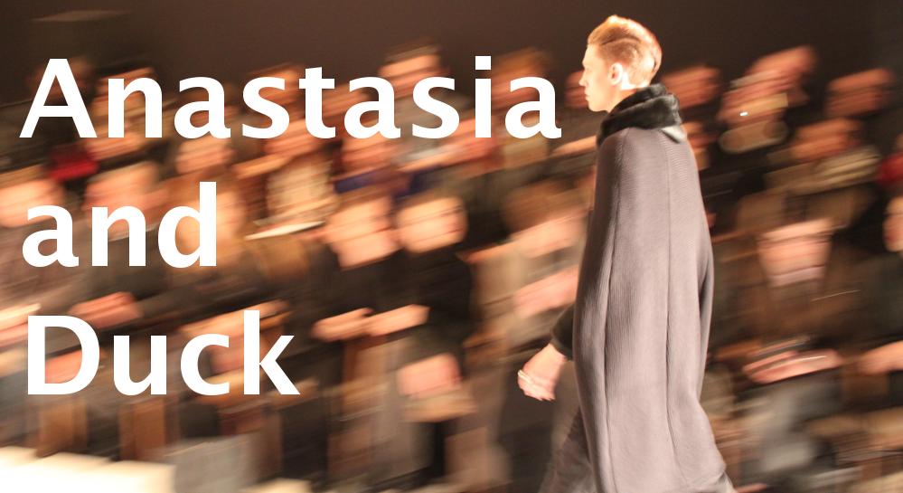 anastasia and duck haute couture menswear fashion