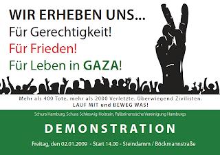 FREITAG: GAZA-DEMO IN HAMBURG