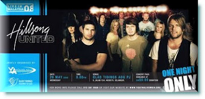 Hillsong United Live in Malaysia 2008 ticket