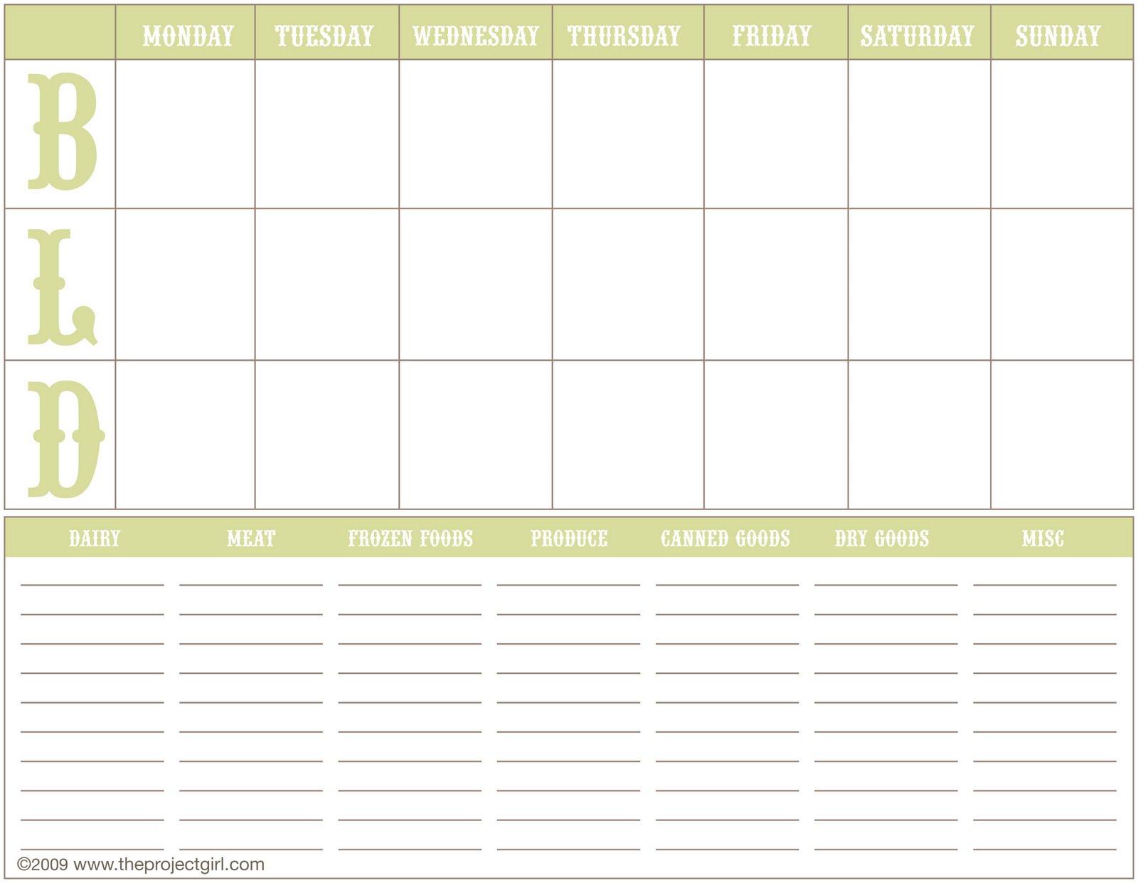88 camping menu planner camping menu planner printable for Camping menu planner template