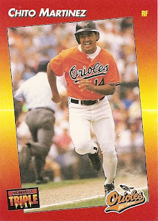 Orioles Card O The Day Chito Martinez 1992 Donruss Triple Play 192