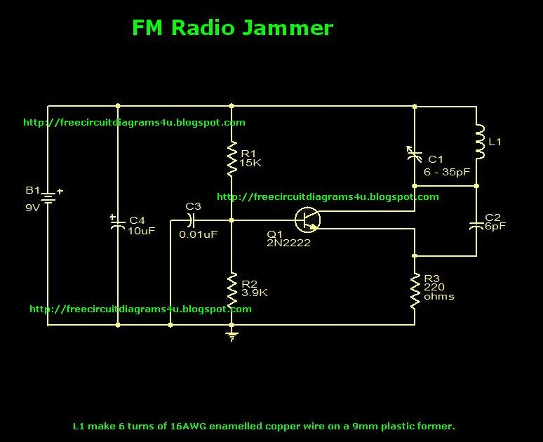 Radio Jammer With Spdt Relay Schematic Circuit Diagram Youtube
