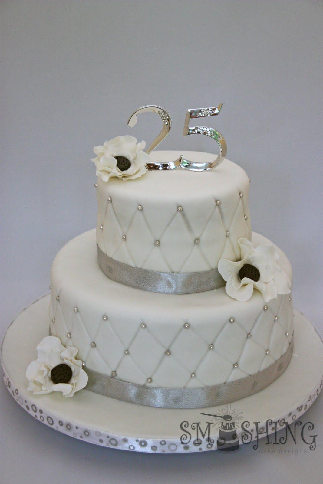 Smashing Cake Designs Silver Anniversary
