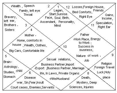 ॐ Astrology ॐ 12 Houses In Birth Chart