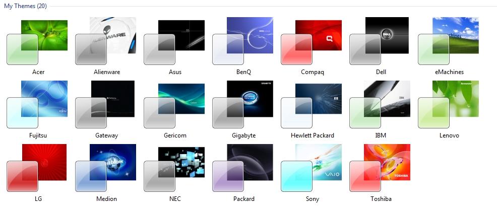 Windows 7 OEM Theme Packs (Original) Exclusive|Mediafire ...