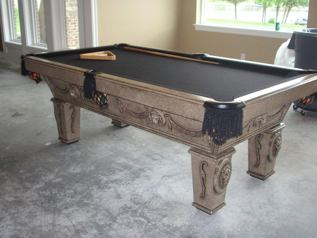 Remodelaholic Updated Pool Table Makeover - Pool table resurfacing cost