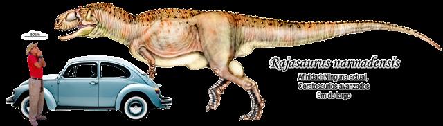 Rajasaurus narmadensis a escala