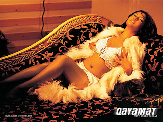 Riya Sen in Bra Panty pressing boobs
