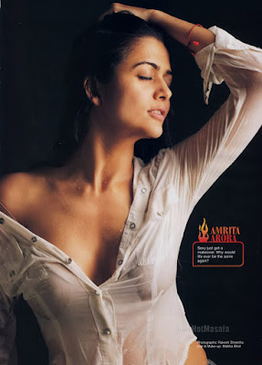 Amrita Arora, transparent shirt
