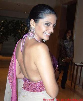 Mandira Bedi nude back