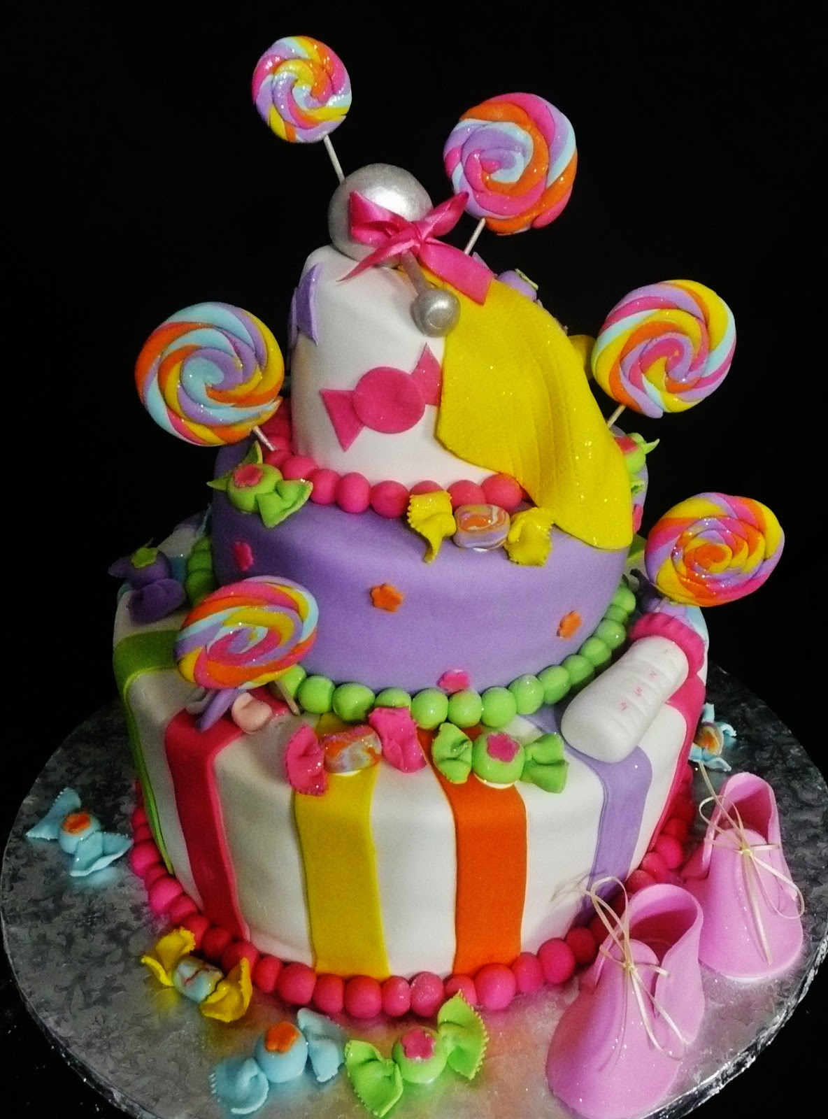 Baking With Roxana S Cakes Baby Shower Cake Candy Themed