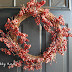 Frugal Friday...How to turn a Christmas wreath into an Autumn beauty~