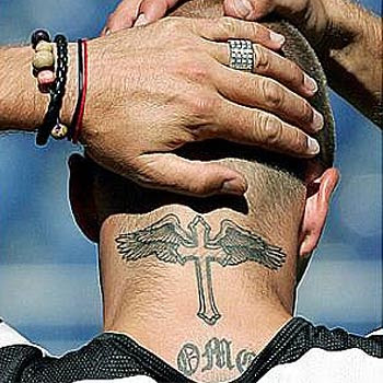 David Beckham's neck