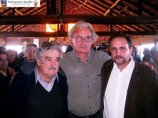 José Mujica, R. Martínez Huelmo y Jorge Saravia