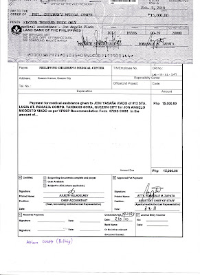 Baby jon angelo friday feb 19 2010 p 15000 worth of guarantee letter cheque payable to pcmc cleared for use from ovp thank you god bless you hon noli de castro spiritdancerdesigns Images