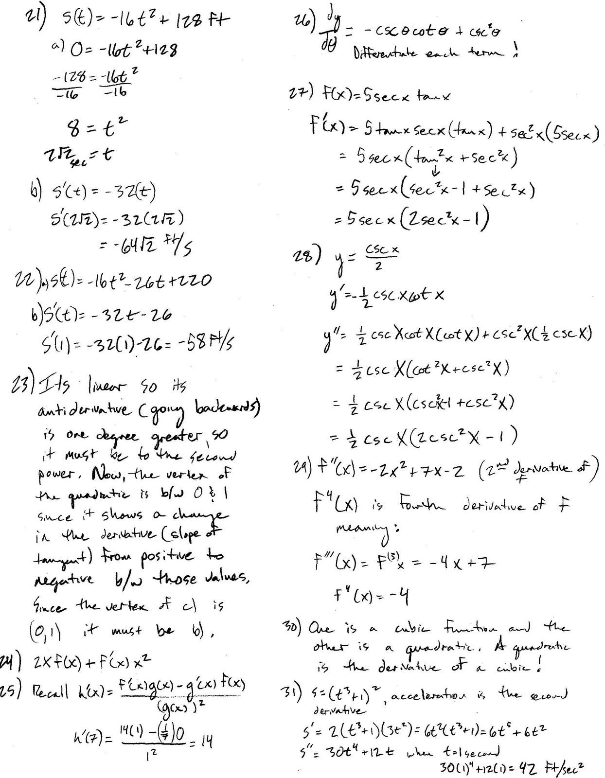 Mr Suominen S Math Homepage Ap Calculus