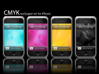 Pinkie75 has created 4 very beautiful CMYK wallpapers for iPod touch and