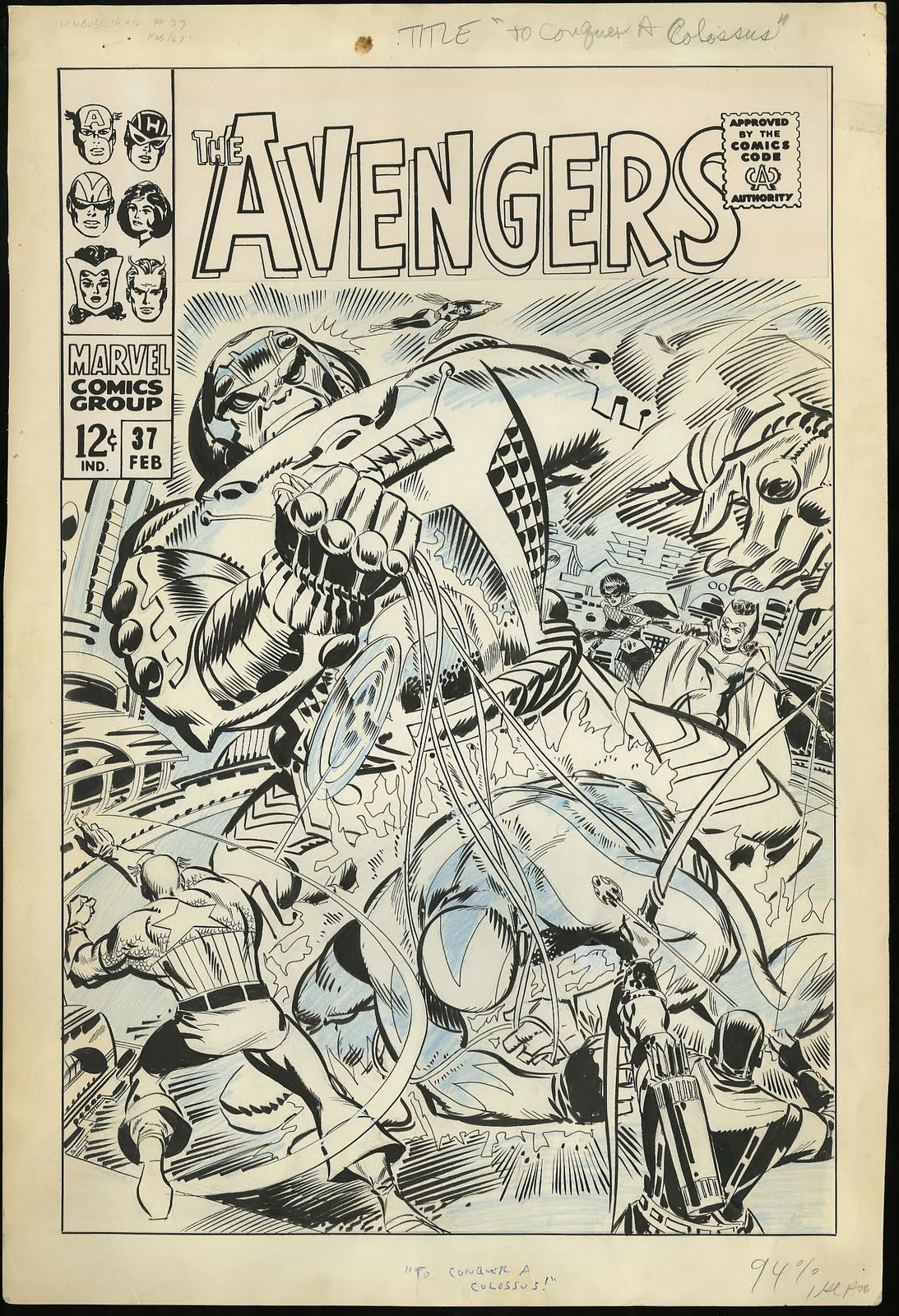 Original Art Stories Don Hecks Avengers
