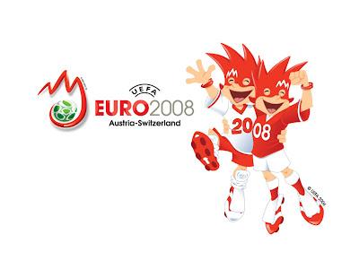 Euro 2008 Mascot, White Wallpaper - 1024x768