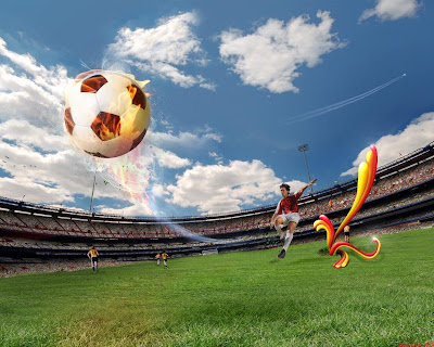UEFA Euro 2008 Fire Ball Wallpaper ! - (1280x1024)