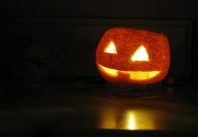 Jack'o'lantern de mandarina