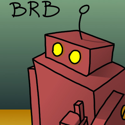 big red robot taking over this blog as seen in explodingdog and other internet sites