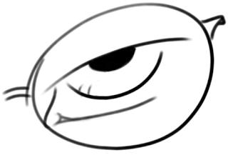 lente de gafa (con ojo)