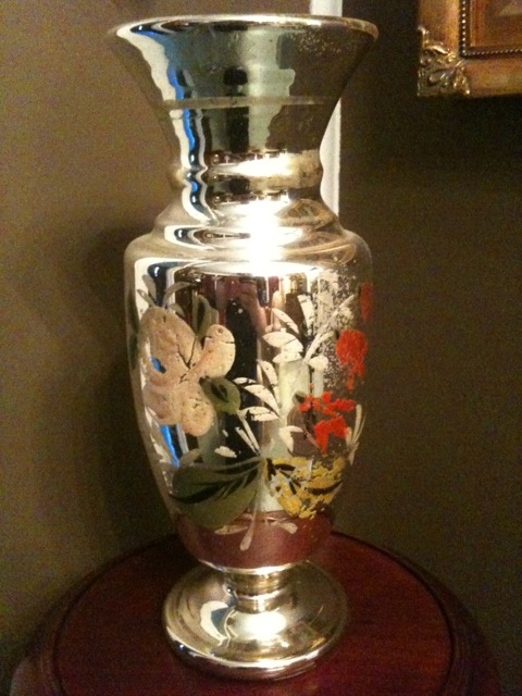 Stalking The Belle 201 Poque Object Of The Day Antique Mercury Glass Vase