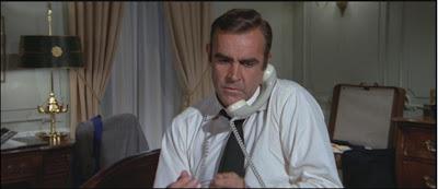 Bond on phone...