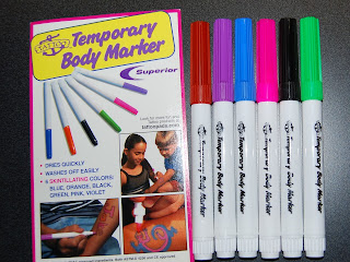 Bigfoot & Pickle Face's Kids Craft Ideas: Tattoo Body Markers