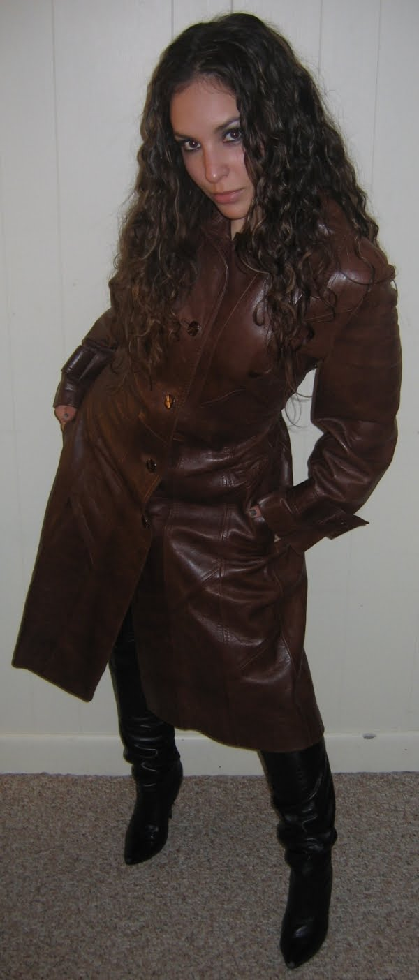 Ebay Leather More Great Long Leather Coat Modeling